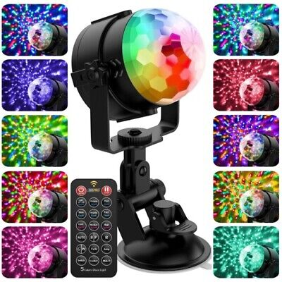 Sound Activated Disco Ball Lights [Free Wall Holder] LED Party Strobe  for DJs