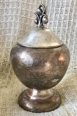 Antique Silver on Copper Silver Plated Sugar Bowl