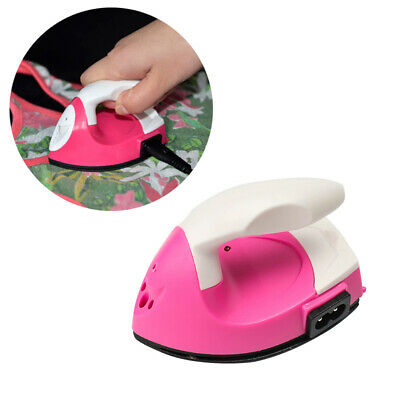 Mini Electric Iron Portable Safety Travel Crafting Craft Clothes Sewing Supplies
