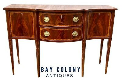 20Th C  Federal Antique Style Mahogany Sideboard / Server By Councill Craftsmen
