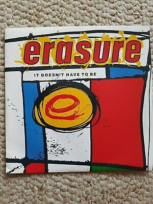 Erasure - It Doesnt Have To Be - Pic Sleeve - Original 7 Inch