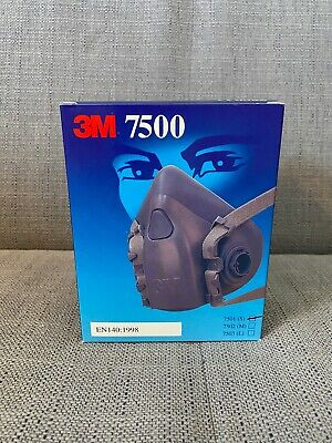 3M 7501 Small Sized Half Facepiece Reusable Respirator - No Filters Included