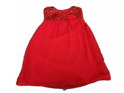Girls Red sleeveless summer / Party Top From George Age 10-11 Years