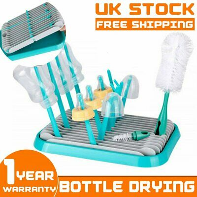 Drying Rack For Baby Bottles Cup & Teats Dryer Clean Feeding Holder Drainer