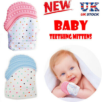 Silicone Baby Mitts Teething Mitten Teething Glove Candy Wrapper Soft Teether UK