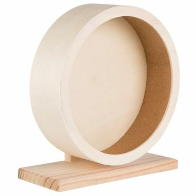 Trixie Wood Wooden Exercise Wheel Small Pet Hamster Rodent Mouse Accessory 33cm