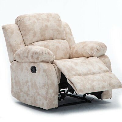 LUXURY FABRICLEATHER RECLINER Chair Wingback Sofa Lounge Home Cinema Fireside