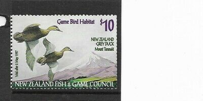 NEW ZEALAND $10 Fish & Game Council issue  Mint NH