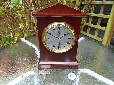 Raf Officers Mess Vintage Style Clock With British Garrard Pendulum Movement.