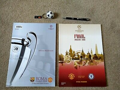 Champions League Programmes 2008 & 2009 plus gifts