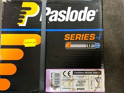 Box Of Paslode PPN35CI Twist Nails and 2 Fuel Cells Dated July 2021
