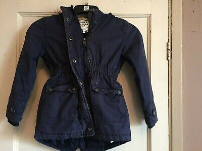 Girls Navy Hooded Padded Coat from Marks & Spencer Age 7-8 years