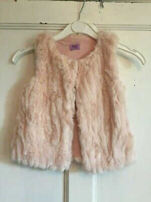 Girls Pink Sleeveless Gilet Jacket from F&F Age 3-4 years