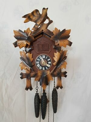 Vintage Musical Bird nest Cuckoo Clock -fully functional -with LADOR music box