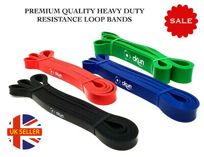 Fitness Pull Ups Resistance Bands Heavy Duty CrossFit Gym Sport - SET OR SINGLE