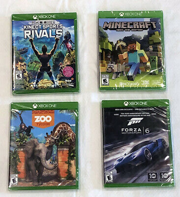 Microsoft XBOX ONE Video Games - 4 New Games - Forza Motorsport 6, Minecraft ++
