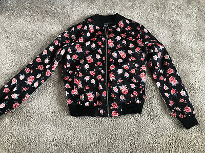 New Look 915generation Lightweight Floral Print Zip Up Jacket Age 14-15years Gc