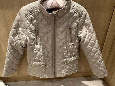 Zara Girls Beige Trendy Jacket Coat Quilted Style Age 7 Yrs Vgc