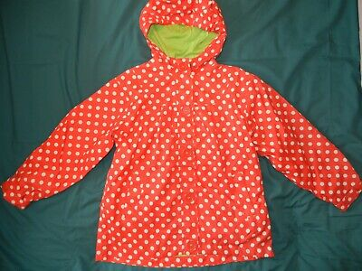 Girls Target Dry lightweight spotty raincoat age 5-6 years exc condition