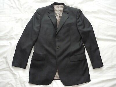 Austin Reed Mens Single Breasted Grey Pinstripe Wool Westminster Suit Jacket 42l 23 99 Picclick Uk