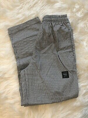 Chef 24/7 Revival Size L Large Pants Black White Houndstooth Pattern