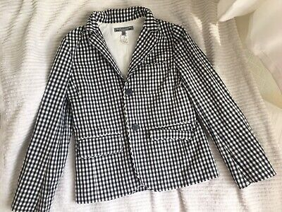 Bonpoint boys Black & White Dressy Gingham Check Blazer jacket Age 4 years