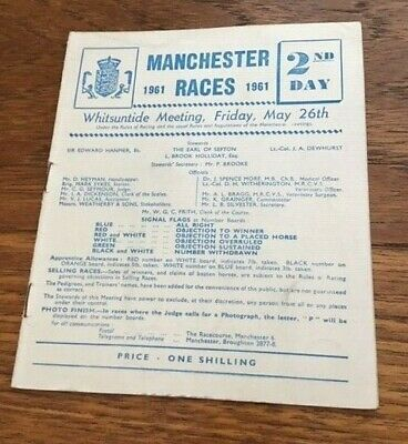 1961 MANCHESTER racecard - course CLOSED 1963