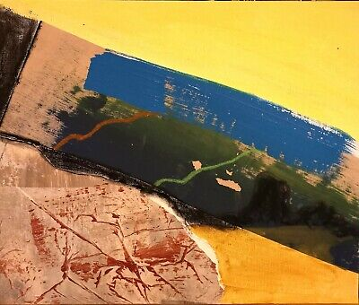 Cornish Abstract Landscape Colour Nigel Waters Original Mixed Media 50% Off *