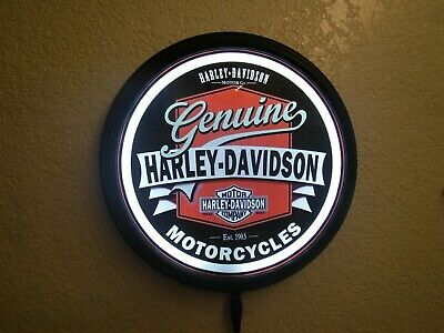 Light up Harley Davidson Sign W/ Remote Gas Pump Style Globe  Man Cave Garage #7