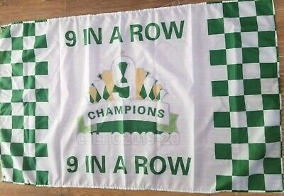 CELTIC CHAMPI9NS 9 IN A ROW 2020 SOUVENIR FLAG 3x2 - PRE ORDER