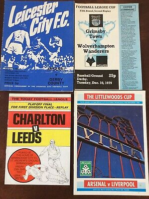 Collection of 4 football programmes played at neutral grounds