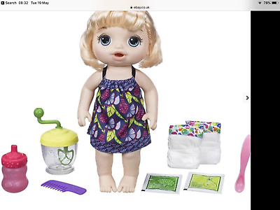 Baby Alive Sweet Spoonfuls Blonde Baby Doll Girl new in box