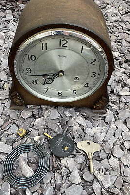 vintage smiths mantle clock Selling As Found Spares Or Repairs
