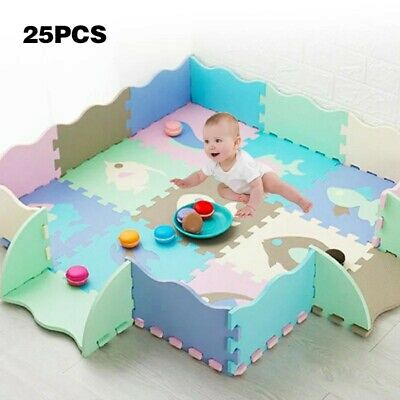 Baby Non-Toxic Crawling Play Mat Kids Toddlers Extra Thick Foam Large Gate New