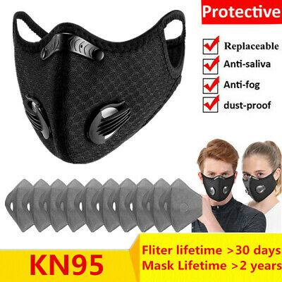Breathable Cotton Face Mask Unisex Reusable Cycling Washable With Filter Pad