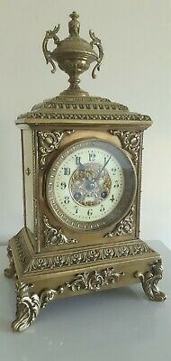 Stunning French Bell Chiming 8 Day Cube Clock,With Quality Japy Freres Movement