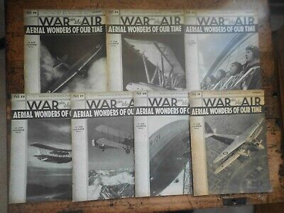 War In The Air Magazines X 7 Job Lot 1936, Air Stories, Issues No 19-25