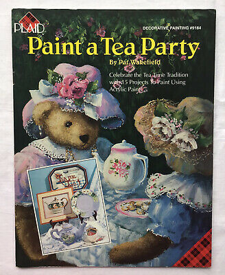 Paint A Tea Party By Pat Wakefield, Folk Art/decorative Painting Book