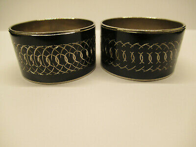Two Vintage Silverplate Napkin Rings