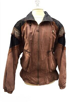 Wilson Adventure Bound Womens Small Pattern Patchwork Leather Jacket