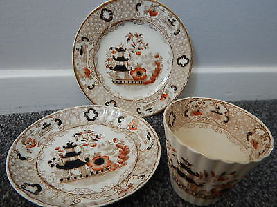 Antique Vintage Trio Cup Saucer Plate Chinese Japanese Asian Oriental ??