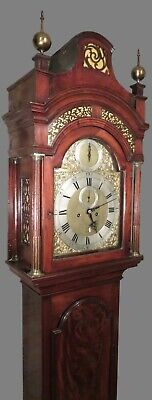 Fine George III Longcase Clock. Ellicott London. Dead-Beat. Flame Mahogany 5 plr