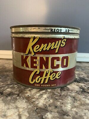 Vintage Kenny's Kenco Coffee 1 lb Tin - C.D. Kenny Co. Baltimore, MD