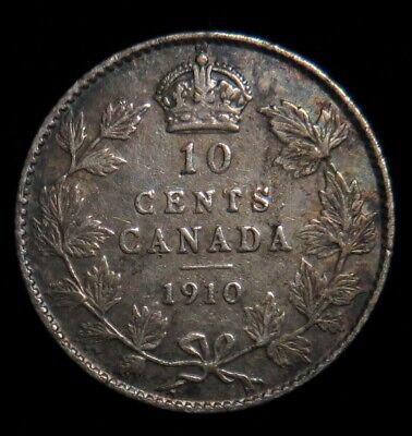1910 Canada 10 cent silver Canadian dime