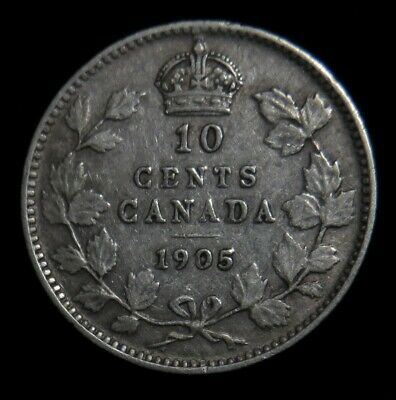 1905 Canada 10 cent silver Canadian dime