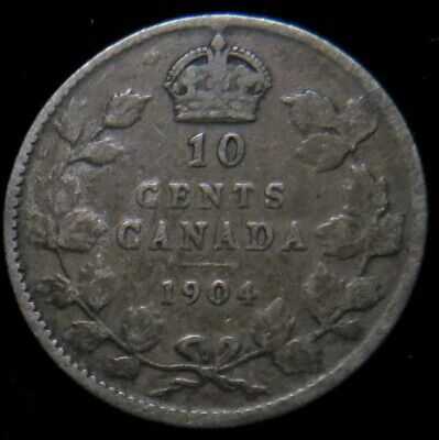 1904 Canada 10 cent silver Canadian dime