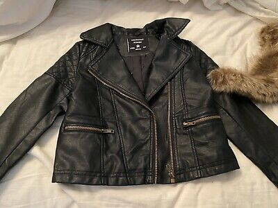 New Primark Girls Leatherette Jacket Age 6-7