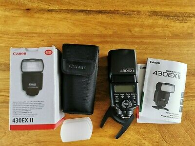 Canon 430EX II Speedlight Shoe Mount Flash -packaging, accessories and DIFFUSER