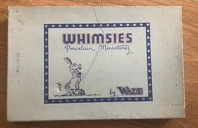 Vintage Old Set Of 5 Wade Porcelain Whimsies Animals In Original Box