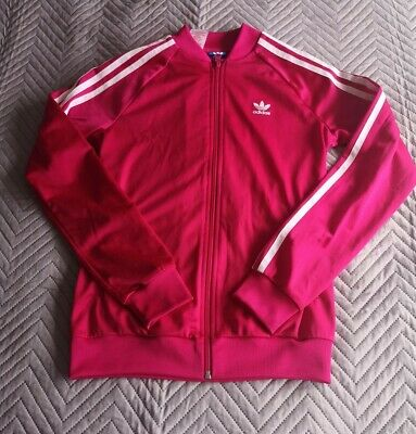 Adidas Pink Girls Tracksuit Top Size 12-13 Years